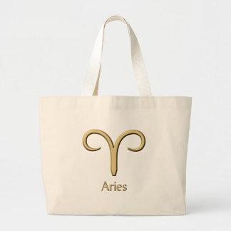 Aries symbol jumbo tote bag
