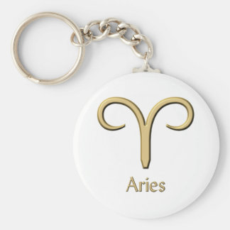 Aries symbol key ring