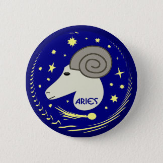 Aries the Ram 6 Cm Round Badge