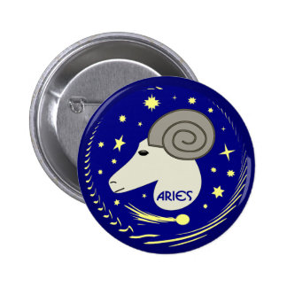 Aries the Ram 6 Cm Round Badge