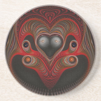 Aries the Ram Abstract Art Coaster