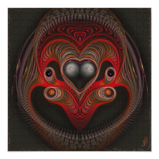 Aries the Ram Abstract Art 13 Cm X 13 Cm Square Invitation Card