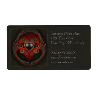 Aries the Ram Abstract Art Shipping Label