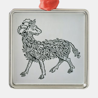 Aries (the Ram) an illustration from the 'Poeticon Christmas Ornament