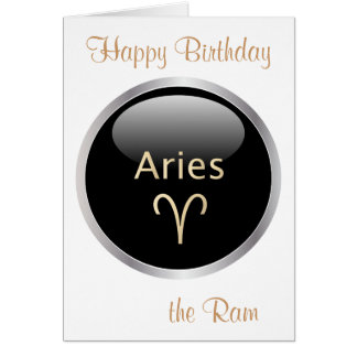 Aries the ram astrology star sign birthday card