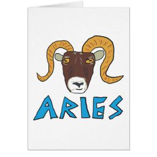 Aries the Ram Card