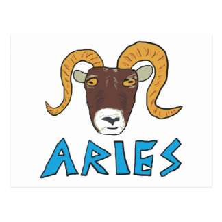 Aries the Ram Postcard