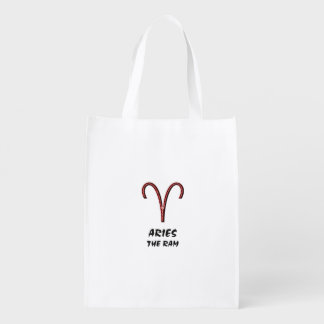 Aries the ram reusable grocery bag