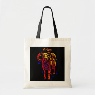 Aries The Ram Tote Canvas Bags