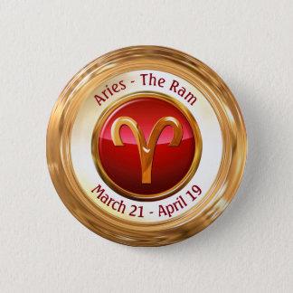 Aries - The Ram Zodiac Sign 6 Cm Round Badge
