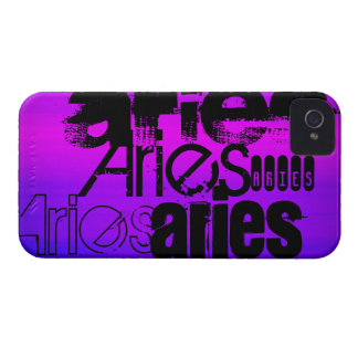 Aries; Vibrant Violet Blue and Magenta Case-Mate iPhone 4 Cases