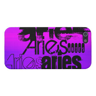 Aries; Vibrant Violet Blue and Magenta iPhone 5/5S Cases