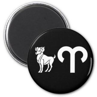 Aries with Symbol 6 Cm Round Magnet