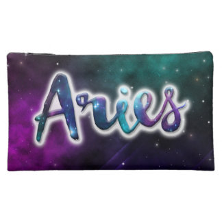 Aries Zippered Pouch - Medium Cosmetic Bags