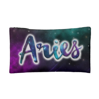 Aries Zippered Pouch - Small Cosmetic Bag