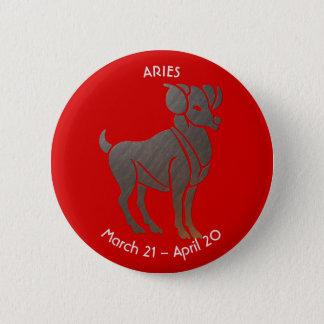 Aries Zodiac 6 Cm Round Badge