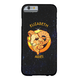 Aries Zodiac Birthday Sign With Your Custom Name Barely There iPhone 6 Case