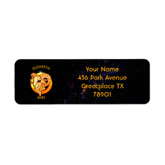 Aries Zodiac Birthday Sign With Your Custom Name Return Address Label