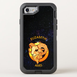 Aries Zodiac Birthday Sign With Your Name OtterBox Defender iPhone 7 Case