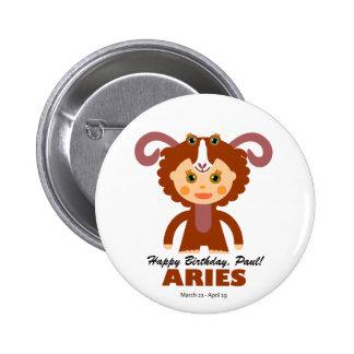 Aries Zodiac for Kids 6 Cm Round Badge