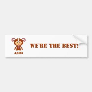 Aries Zodiac for Kids Car Bumper Sticker