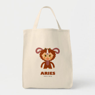 Aries Zodiac for Kids Grocery Tote Bag