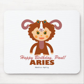 Aries Zodiac for Kids Mouse Pad