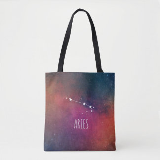 Aries Zodiac Galaxy Tote Bag