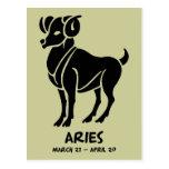 Aries Zodiac postcards