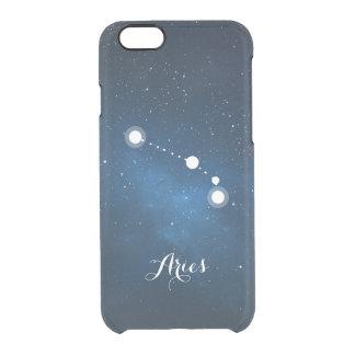 Aries Zodiac Sign Blue Nebula iPhone 6 Plus Case
