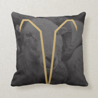 Aries  Zodiac Sign | Custom Background Throw Pillow