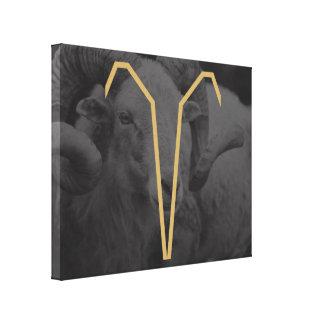 Aries Zodiac Sign | customizable Background Canvas Print