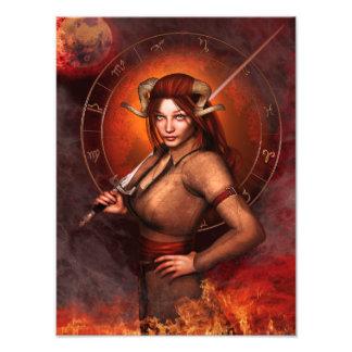 Aries zodiac sign fantasy photo print