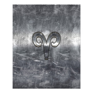 Aries Zodiac Sign in Grunge Distressed Style 11.5 Cm X 14 Cm Flyer