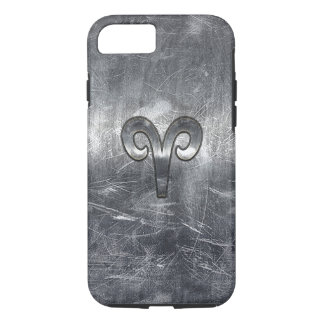 Aries Zodiac Sign in Grunge Distressed Style iPhone 7 Case