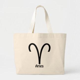 Aries Zodiac Sign Large Tote Bag