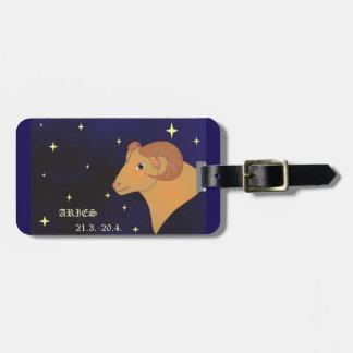 Aries zodiac sign Luggage Tag