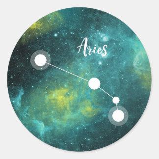 Aries Zodiac Sign, March 21 - April 19 Round Sticker