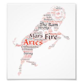 Aries Zodiac Sign Print Art Photo