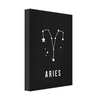 Aries Zodiac Sign Quote Canvas Print