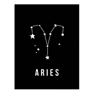 Aries Zodiac Sign Quote Postcard