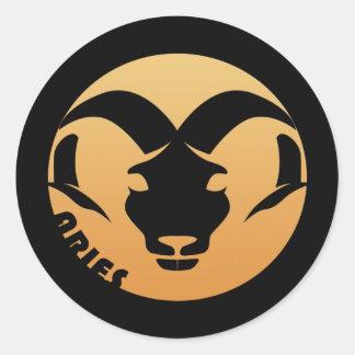 Aries Zodiac Sign Round Sticker
