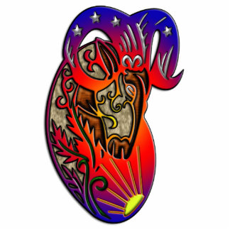Aries Zodiac Sign Standing Photo Sculpture