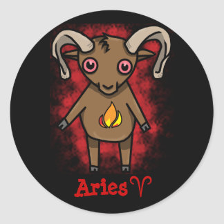 Aries Zodiac Sticker! Classic Round Sticker