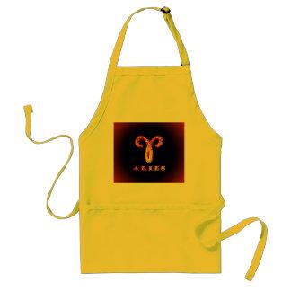 Aries Zodiac Symbol Aprons