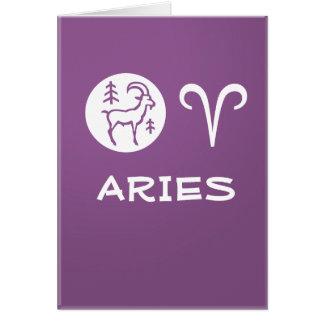 ARIES ZODIAC Symbol Greeting Card