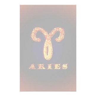 Aries Zodiac Symbol Personalized Stationery
