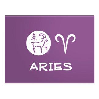 ARIES ZODIAC Symbol Postcard