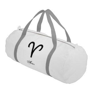 Aries Zodiac Symbol Standard Gym Duffel Bag