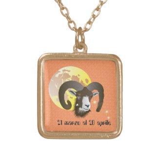 Ariete 21 marzo Al 20 April Collana Square Pendant Necklace